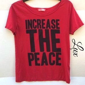 Lux Loose Fit Increase The Peace Short Sleeve Tee